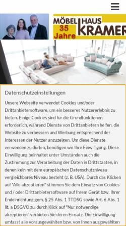 Vorschau der mobilen Webseite www.moebelhauskramer.de, Möbelhaus Krämer