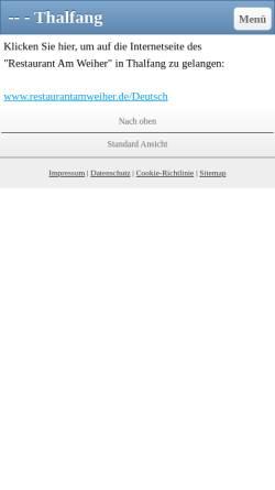 Vorschau der mobilen Webseite www.amweiher-thalfang.de, Haus Am Weiher