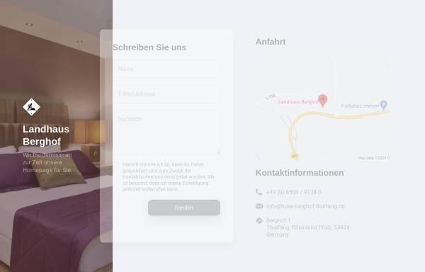 Vorschau von www.hotel-berghof-thalfang.de, Landhaus Berghof