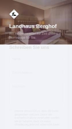 Vorschau der mobilen Webseite www.hotel-berghof-thalfang.de, Landhaus Berghof