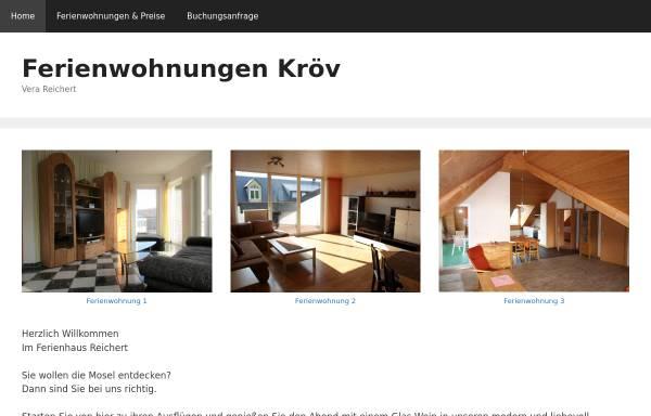 Vorschau von www.ferienwohnung-kroev.de, Ferienwohnungen Vera Reichert