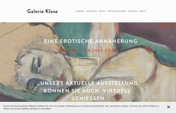 Vorschau von www.galerie-klose.de, Galerie Klose