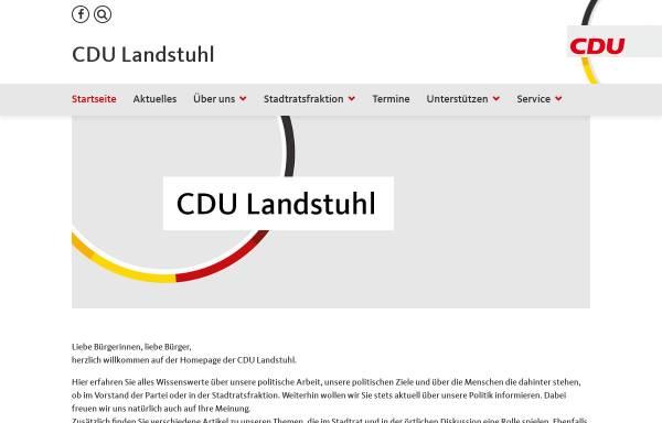 Vorschau von www.cdu-landstuhl.de, CDU-Stadtverband Landstuhl