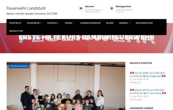 Vorschau von www.feuerwehr-landstuhl.de, Freiwillige Feuerwehr Landstuhl