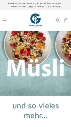 Vorschau der mobilen Webseite www.muesli.at, Getreide-Gutscher GmbH & Co KG