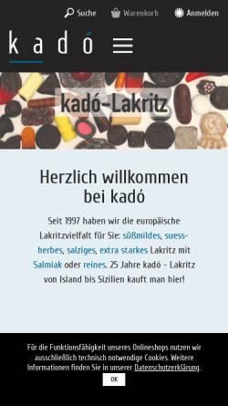 Vorschau der mobilen Webseite www.kado.de, Kadó, Ilse Böge