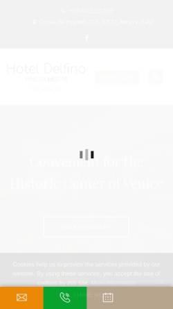 Vorschau der mobilen Webseite www.hoteldelfino-mestre.com, Hotel Delfino
