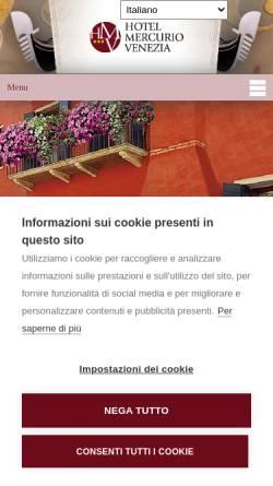 Vorschau der mobilen Webseite www.hotelmercurio.com, Hotel Mercurio