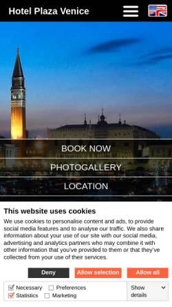 Vorschau der mobilen Webseite www.hotelplazavenice.com, Hotel Plaza