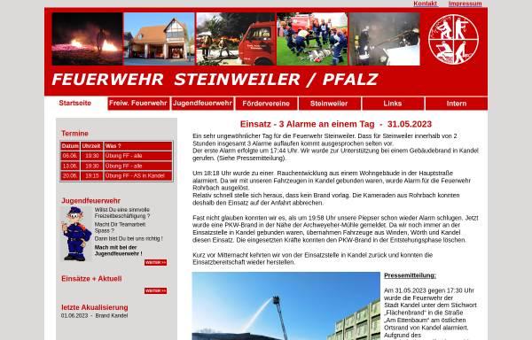 Vorschau von www.feuerwehr-steinweiler.de, Freiwillige Feuerwehr