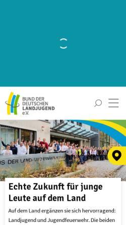 Vorschau der mobilen Webseite bdl.landjugend.info, Landjugend Steinweiler