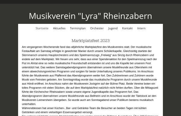 Vorschau von www.musikverein-rheinzabern.de, Musikverein Lyra