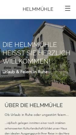 Vorschau der mobilen Webseite www.helmmuehle.de, Helm-Mühle Hotel+Restaurant