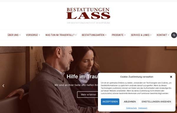 Vorschau von www.bestattungen-lass.de, Bestattungsinstitut Lass