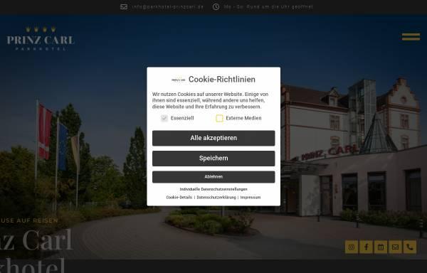 Vorschau von www.parkhotel-prinzcarl.de, Parkhotel Prinz Carl in Worms