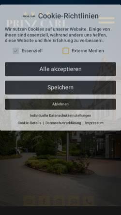 Vorschau der mobilen Webseite www.parkhotel-prinzcarl.de, Parkhotel Prinz Carl in Worms