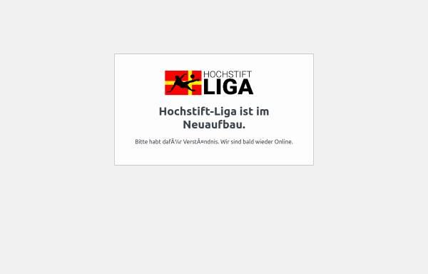 Vorschau von hochstift-liga.de, Hochstift Liga - Die wilde Liga
