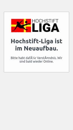 Vorschau der mobilen Webseite hochstift-liga.de, Hochstift Liga - Die wilde Liga