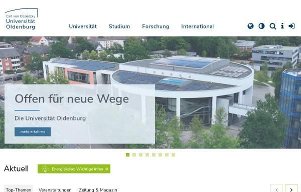 Vorschau von www.uni-oldenburg.de, Carl von Ossietzky Universität Oldenburg