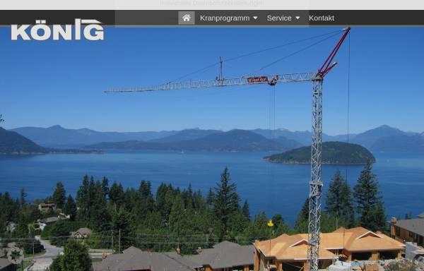 Vorschau von www.koenig-krane.de, König Baumaschinen-Vertrieb GmbH