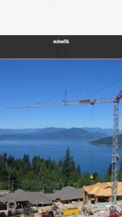 Vorschau der mobilen Webseite www.koenig-krane.de, König Baumaschinen-Vertrieb GmbH