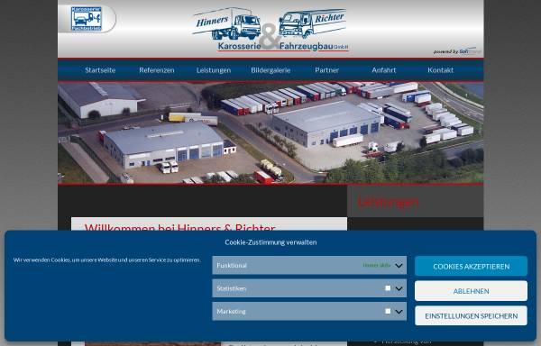 Vorschau von www.hinners-richter.com, Hinners & Richter Karosserie- und Fahrzeugbau GmbH