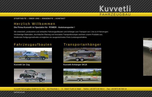 Vorschau von www.kuvvetli.de, Kuvvetli Fahrzeugtechnik