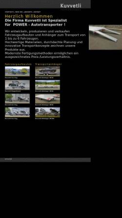 Vorschau der mobilen Webseite www.kuvvetli.de, Kuvvetli Fahrzeugtechnik