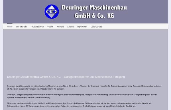 Vorschau von www.maschinenbau-deuringer.de, Maschinenbau Georg Deuringer
