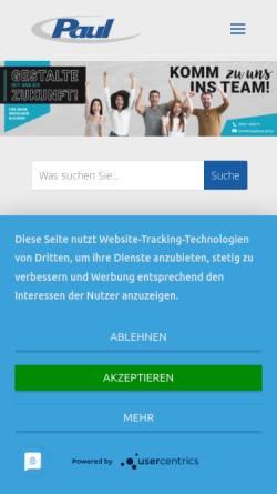 Vorschau der mobilen Webseite www.paul-passau.de, Paul Nutzfahrzeuge GmbH & Co. KG