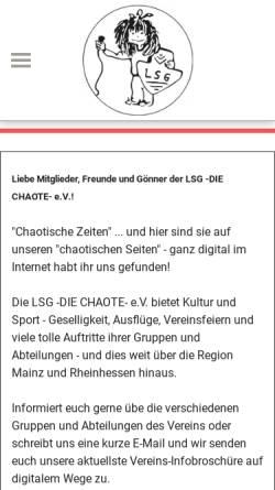 Vorschau der mobilen Webseite www.die-chaote.de, LSG - Die Chaote - Klein-Winternheim e.V.
