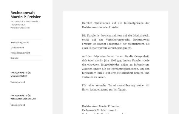 Vorschau von www.ra-freisler.de, Rechtsanwalt Martin P. Freisler