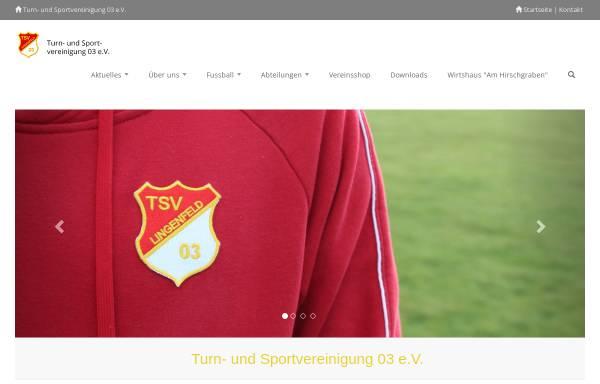 Vorschau von www.tsv-lingenfeld.de, Turn- und Sportvereinigung 03 e.V. Lingenfeld
