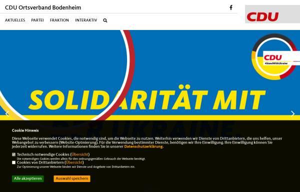 Vorschau von cdu-bodenheim.de, CDU Ortsverband Bodenheim