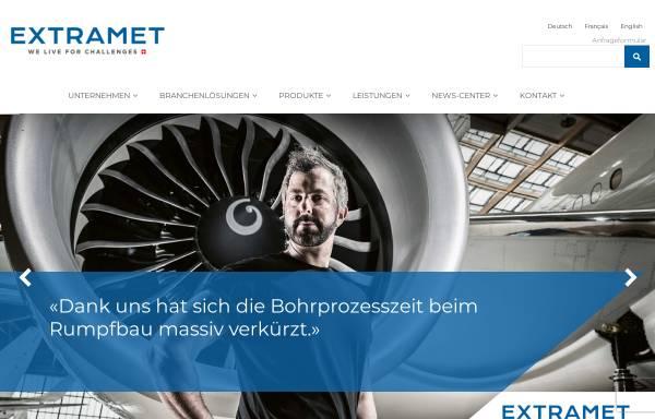 Vorschau von www.extramet.ch, Extramet AG