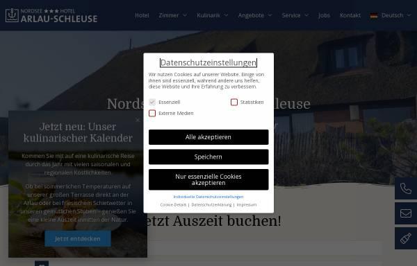 Vorschau von www.arlau-schleuse.de, Hotel Arlau-Schleuse