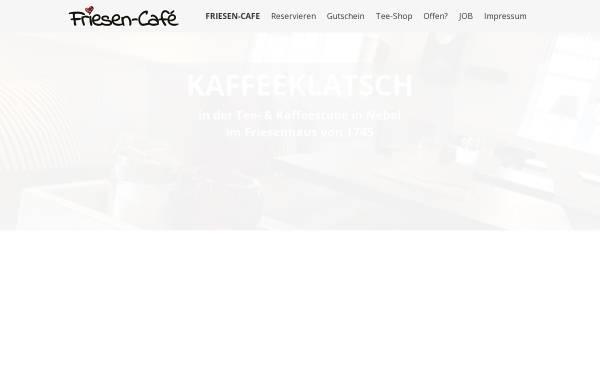 Vorschau von www.friesen-cafe.de, Friesen-Cafe