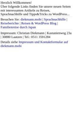 Vorschau der mobilen Webseite www.nichtschlappschlank.de, NichtSchlappschlank.de