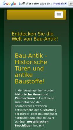 Vorschau der mobilen Webseite www.bau-antik.de, Claudia Blei, Bau Antik