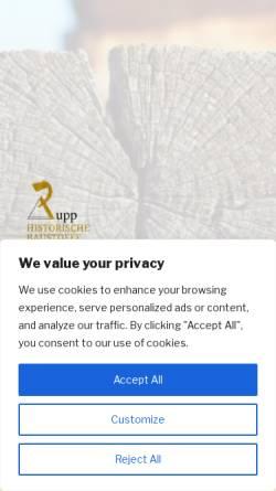 Vorschau der mobilen Webseite www.rupp-historische-baustoffe.de, Hubert Rupp