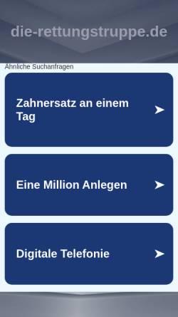 Vorschau der mobilen Webseite www.die-rettungstruppe.de, Jörg Remke, Die Rettungstruppe