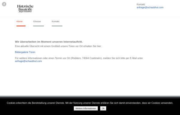 Historische Bauelemente Marwitz jürgen schaubhut in crailsheim historische baustoffe baubedarf