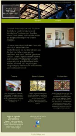 Vorschau der mobilen Webseite www.jugendstilglas.de, Romi Senn-Hodel