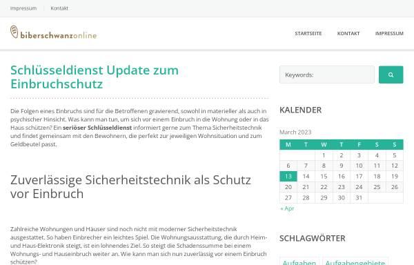Vorschau von www.biberschwanz-online.de, Uwe Schriever