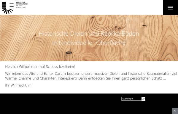Vorschau von www.schloss-ickelheim.de, Winfried Ulm, Architektur + Denkmalpflege