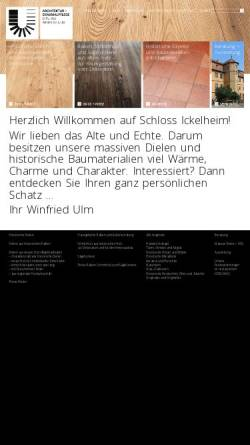 Vorschau der mobilen Webseite www.schloss-ickelheim.de, Winfried Ulm, Architektur + Denkmalpflege
