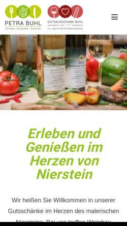 Vorschau der mobilen Webseite www.weingut-buhl.de, Weingut Buhl
