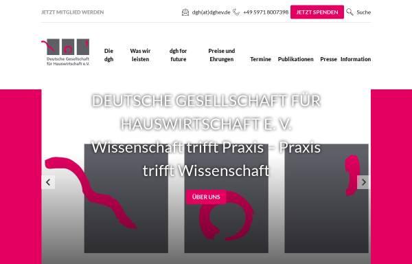 Vorschau von www.dghev.de, Hauswirtschaft und Wissenschaft (HuW)