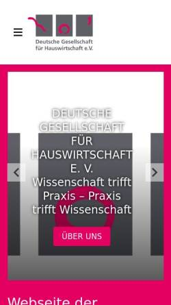 Vorschau der mobilen Webseite www.dghev.de, Hauswirtschaft und Wissenschaft (HuW)