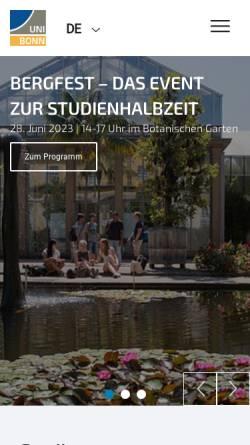 Vorschau der mobilen Webseite www3.uni-bonn.de, Bachelor Ernährungs- und Lebensmittelwissenschaften an der Rheinischen Friedrich-Wilhelms-Universität Bonn
